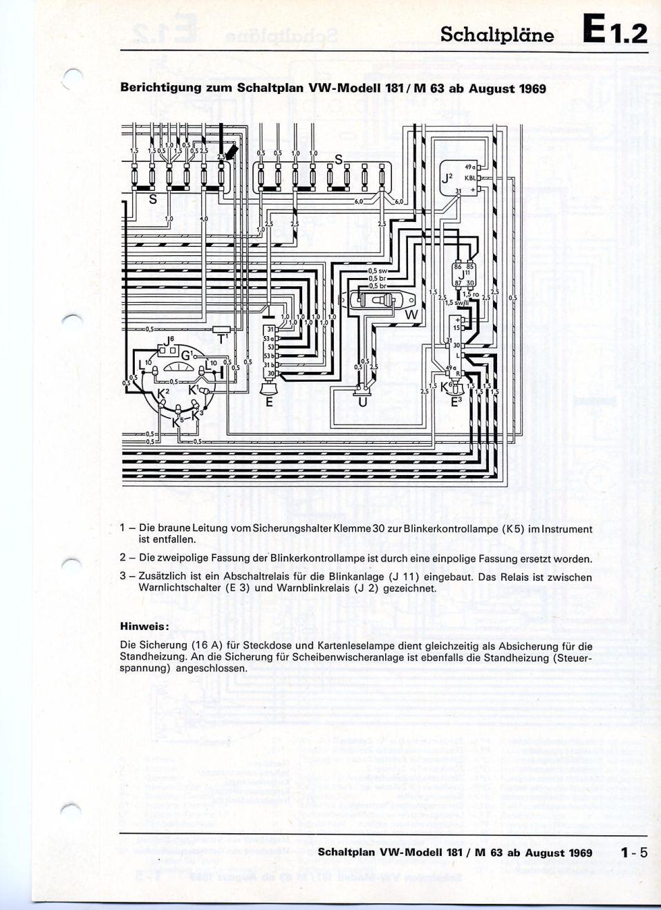 Elektrische Schema\'s VW 181